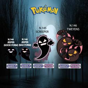 Pokemon (8 Generation) Jeeper, Screeper & Tweyens