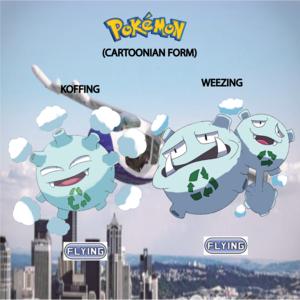 Pokemon (8 Generation) Koffing & Weezing