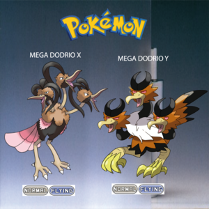 Pokemon (8 Generation) Mega Dodrio X & Mega Dodrio Y