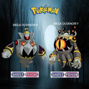 Pokemon (8 Generation) Mega Dusknoir X & Mega Dusknoir Y