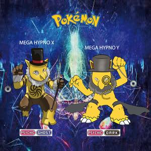 Pokemon (8 Generation) Mega Hypno X & Mega Hypno Y