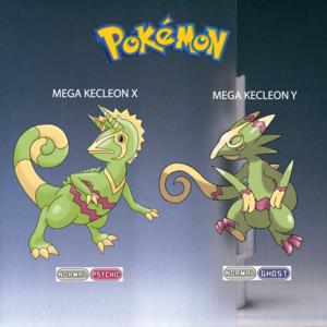 Pokemon (8 Generation) Mega Kecleon X & Mega Kecleon Y
