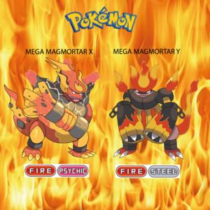 Pokemon (8 Generation) Mega Magmortar X & Mega Magmortar Y