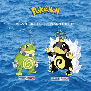 Pokemon (8 Generation) Mega Politoed X & Mega Politoed Y