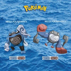 Pokemon (8 Generation) Mega Poliwrath X & Mega Poliwrath Y