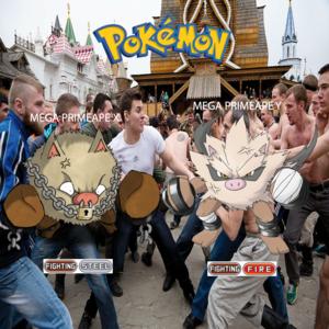 Pokemon (8 Generation) Mega Primeape X & Mega Primeape Y