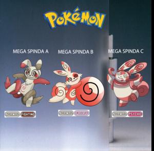 Pokemon (8 Generation) Mega Spinda A, Mega Spinda B & Mega Spinda C
