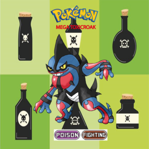 Pokemon (8 Generation) Mega Toxicroak