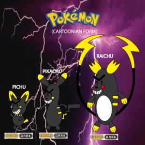 Pokemon (8 Generation) Pichu, pikachu & Raichu