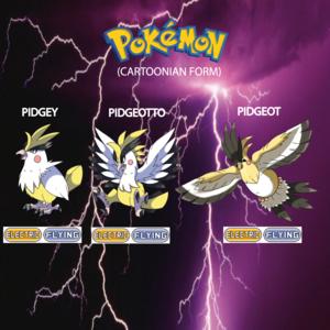 Pokemon (8 Generation) Pidgey, Pidgeotto & Pidgeot