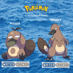 Pokemon (8 Generation) Psyduck & Golduck