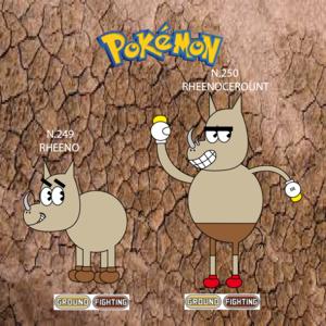 Pokemon (8 Generation) Rheeno & Rheenocerount