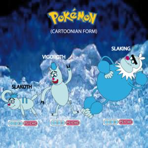 Pokemon (8 Generation) Slakoth, Vigoroth & Slaking