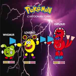 Pokemon (8 Generation) Whismur, Loudred & Exploud
