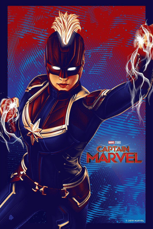 Poster in celebration of Captain Marvel surpassing the $1 billion mark at the global box office