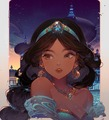 Princess Jasmine - aladdin fan art