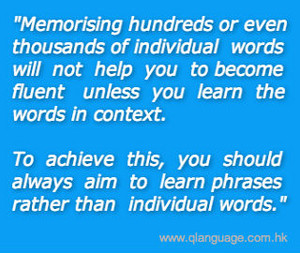 Quote Pertaining To Learning Words In Context