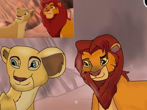 Redraw of Simba and nala, lion guard