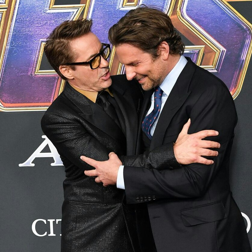 Robert Downey Jr. and Bradley Cooper at the Avengers Endgame World Premiere in Los Angeles