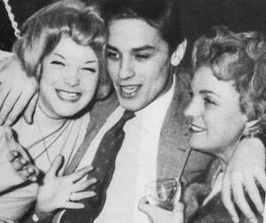 Romy,Alain et Magda Schneider (mère de Romy)
