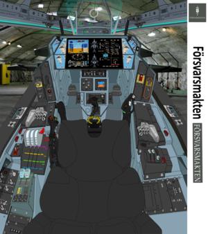 SAAB VFH-12C Block 2.5 Super Auroran AGAC cockpit