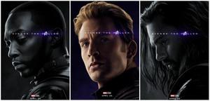 Sam, Steve and Bucky ~Avengers: Endgame character posters