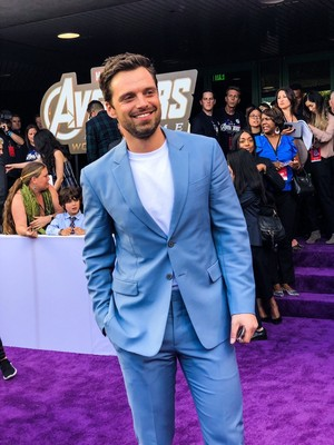 Sebastian Stan at the Avengers: Endgame World Premiere in Los Angeles (April 22nd, 2019)
