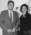 Senator John And Jacqueline Kennedy Back In 1955