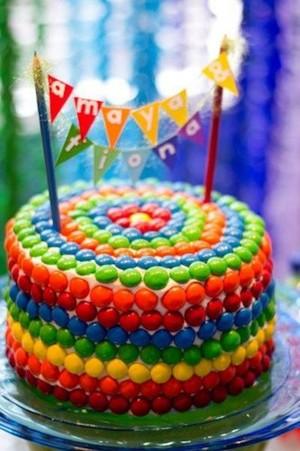 Skittles Cake