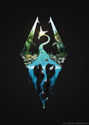 Skyrim Symbol oleh hyperlixir