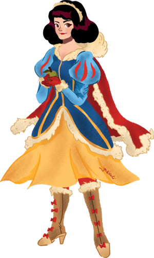 Snow White In Winter Warrior Clothes