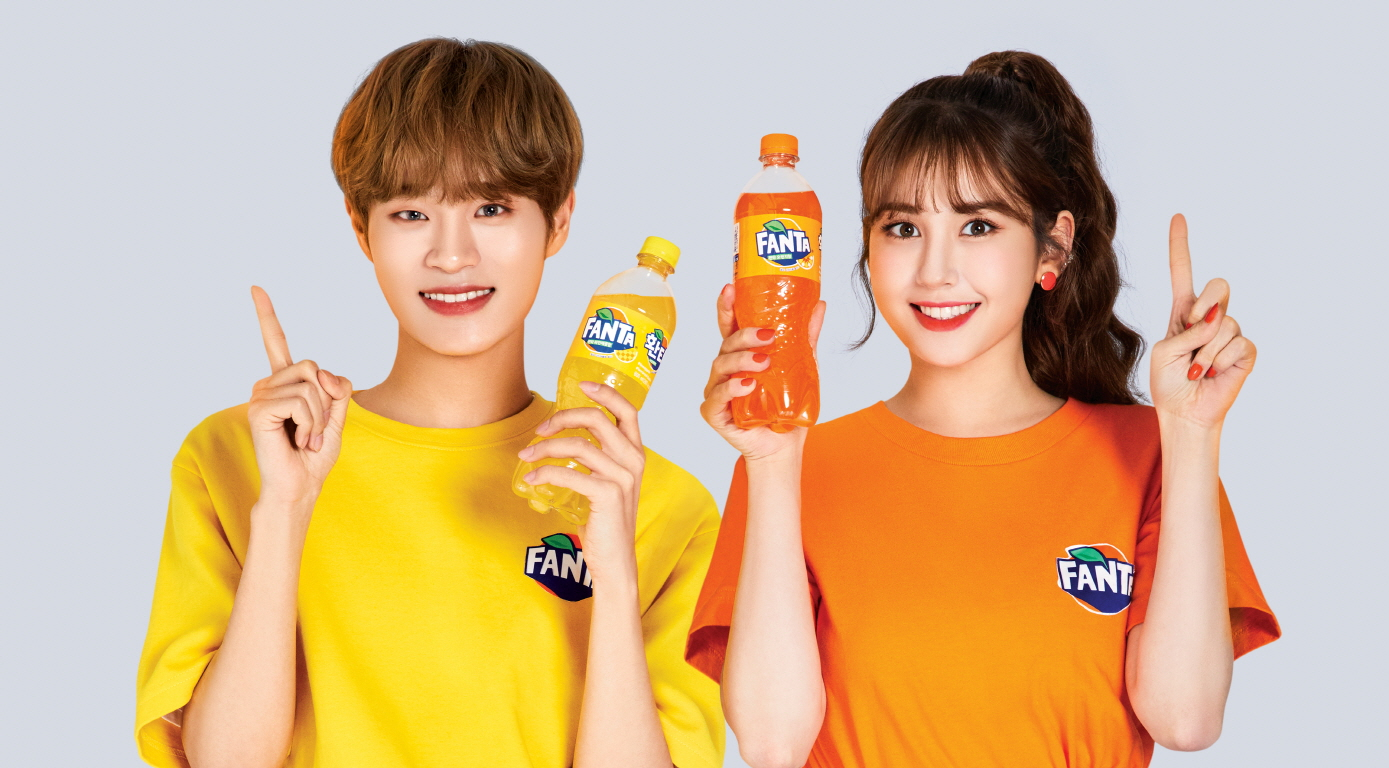 Somi and Daehwi for Fanta