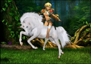 Sonya has begin to tame the Beautiful Wild Unicorn