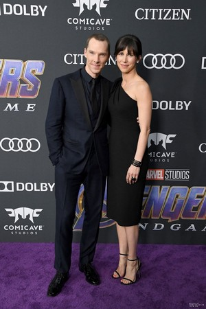 Sophie Hunter and Benedict Cumberbatch at the Avengers: Endgame World Premiere in Los Angeles