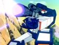Soundwave holding Megatron in gun mode - soundwave photo