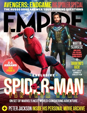 Spider-Man: Far From início on the cover of EMPIRE magazine