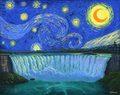 Starry Night Over Niagara Falls - cherl12345-tamara fan art