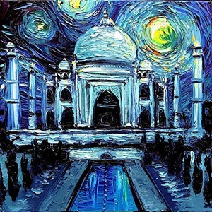 Starry Night Over The Tal Mahal