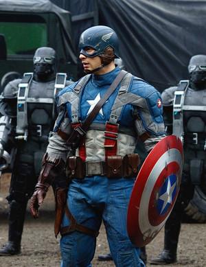 Steve Rogers plus Captain America suits