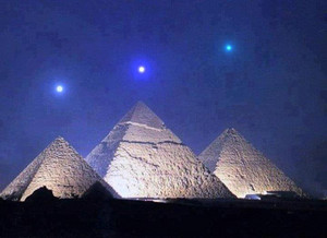 THREE PLANETS IN THREE PYRAMIDS GIZA EGYPT