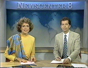televisión Anchors Lorie Vick And Dick Russ