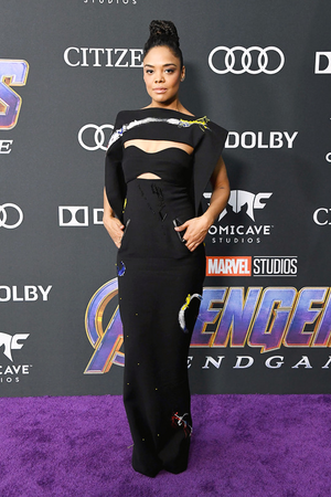 Tessa Thomson at the Avengers: Endgame World Premiere in Los Angeles (April 22nd, 2019)