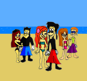 The Goofs and the Friends Romances in pantai Summer