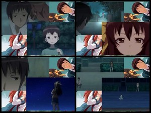 The Melancholy of Haruhi Suzumiya The Disappearance of Nagato Yuki-Chan Kid Kyon Scene Comparison