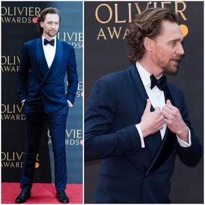 Tom Hiddleston at Olivier Awards on April 7, 2019
