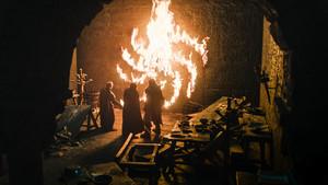 Tormund Giantsbane, Beric Dondarrion and Edd Tollett in 'Winterfell'
