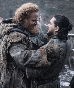 Tormund Giantsbane and Jon Snow in 'A Knight of the Seven Kingdoms'