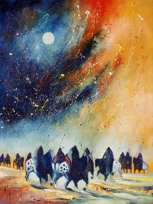 Under a Full Night Sky سے طرف کی Bruce King (Oneida artist)