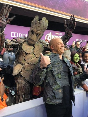 Vin Diesel at the Avengers: Endgame World Premiere in Los Angeles (April 22nd, 2019)