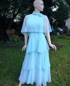 Vintage 70s Prom Dress